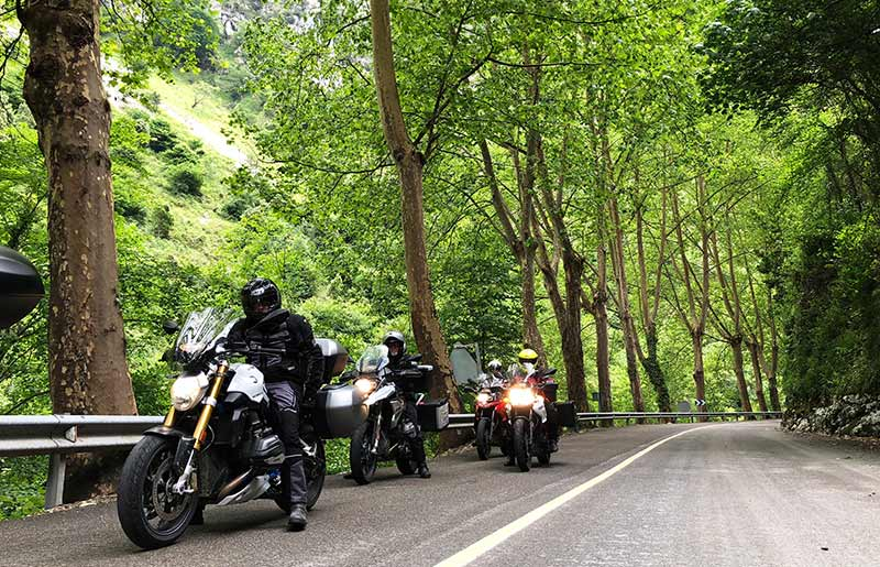 Motorcycle tour green spain