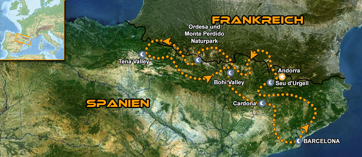 Karten Katalunien MotoGP Tour