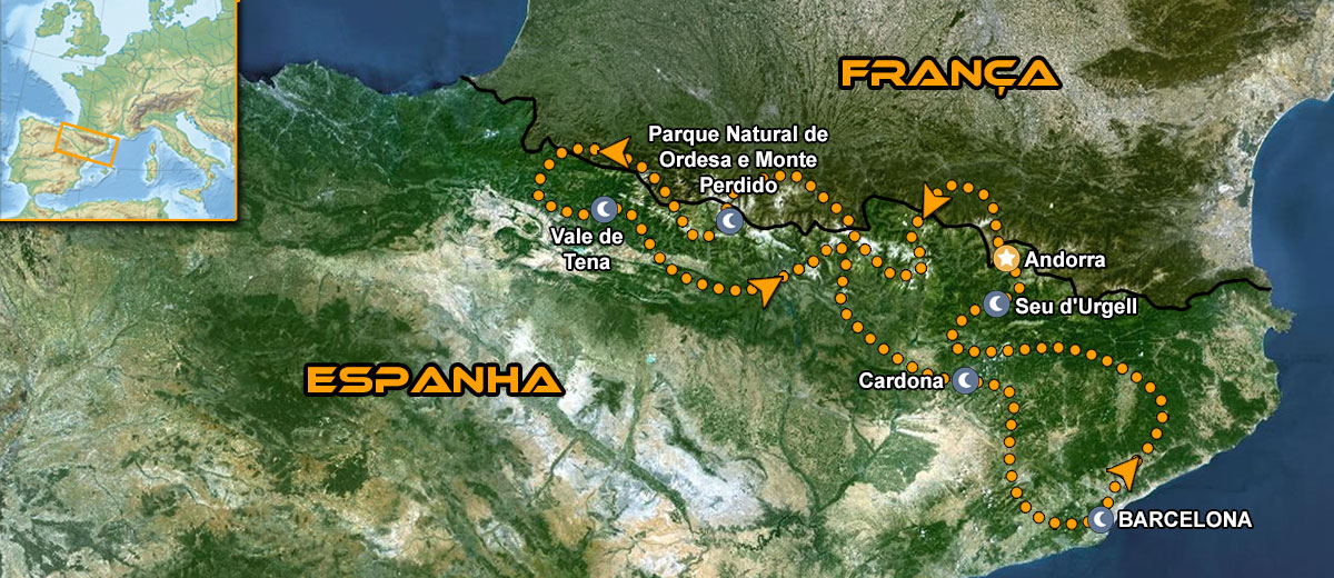 Perfect Pyrenees Motorbike Tour Mapa