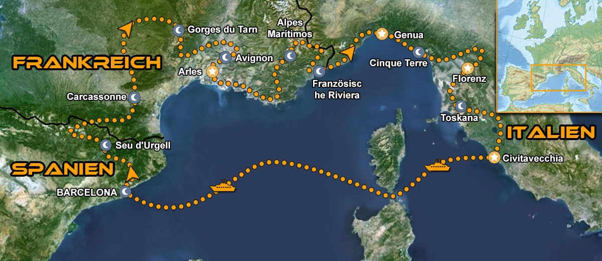 Karten Provence & Toskana Motorrad IMTBIKE