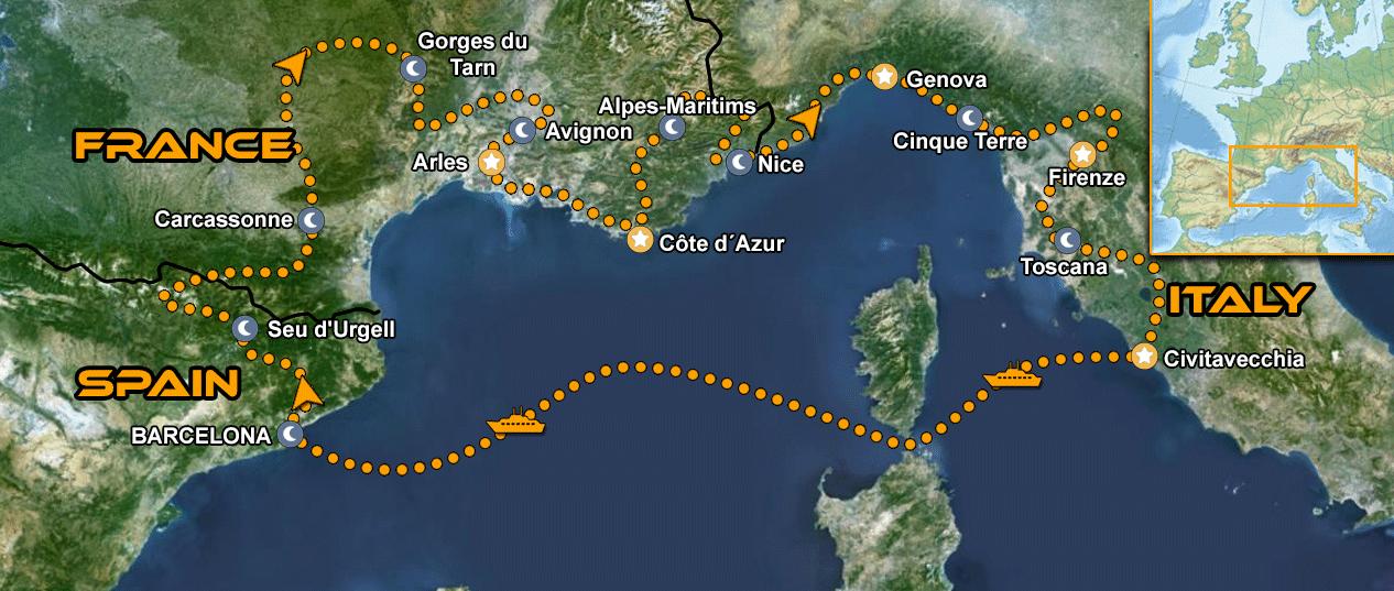 IMTBIKE Motorradreise Provence & Toskana