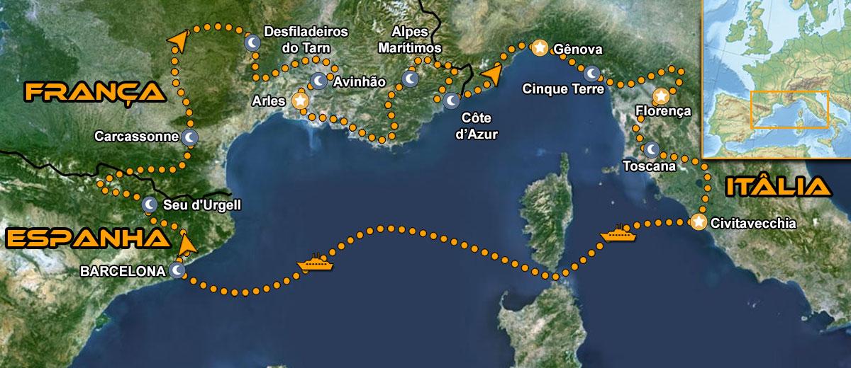 Tour de moto pela toscana e provença IMTBIKE