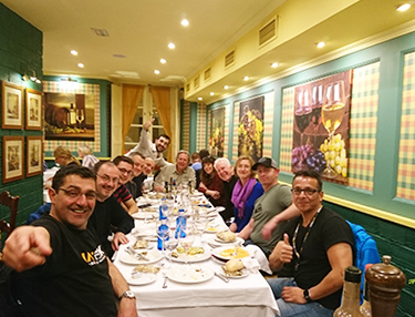 Arrival Malaga, safety briefing and welcome dinner