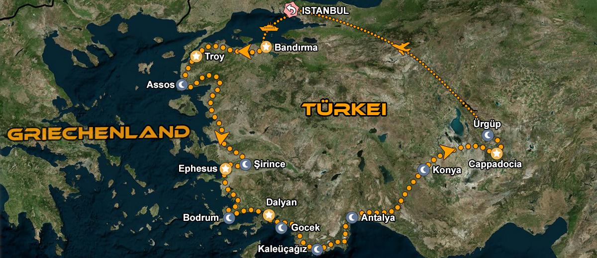 Karten Türkei Motorrad