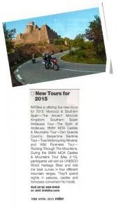 Motorbike Tours in Spain & Morocco