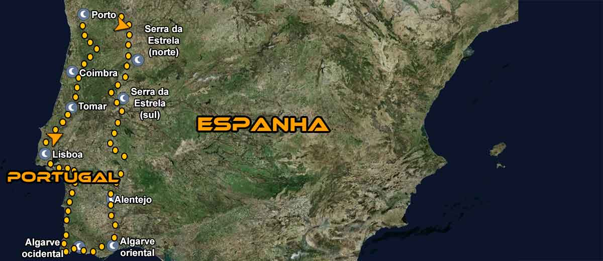 Mapa Tour em Moto Portugal IMTBIKE