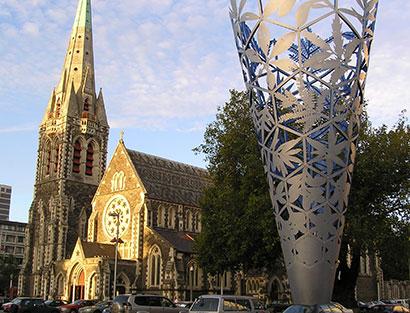 Ankunft in Christchurch, Sicherheitseinweisung und Begrüßungs Dinner