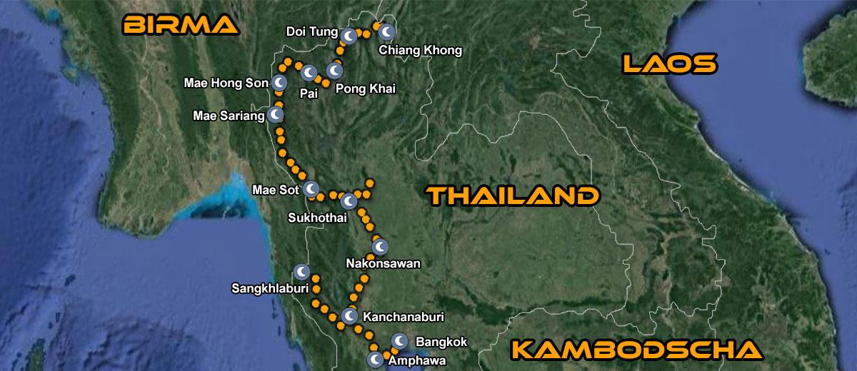 Karten Exotisches Thailand Motorrad IMTBIKE