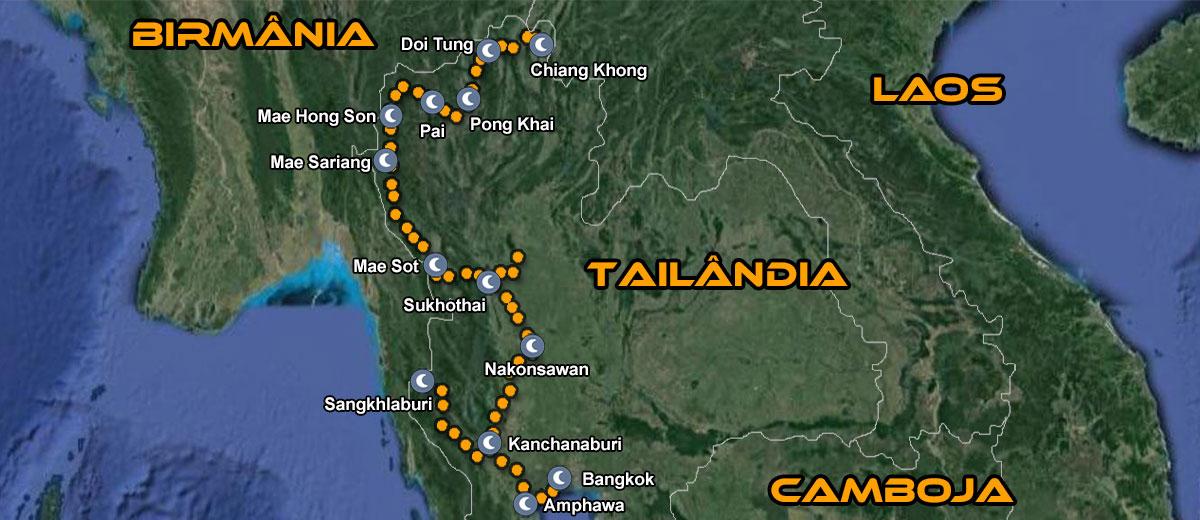 Mapa Moto Tour Tailandia IMTBIKE