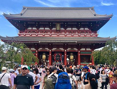 Chegada em Tóquio