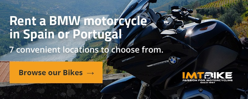 Rent a BMW motorcycle in Spain or Portugal. 7 convenient locations to choose from.