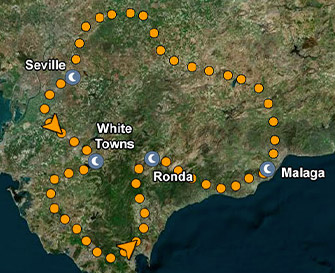 Andalucia Riding Map