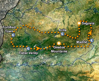 Gredos Mountains Map