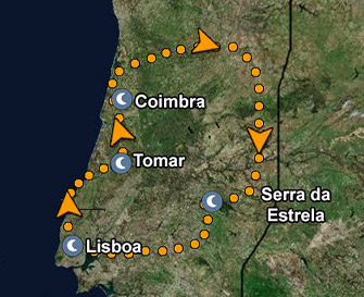 Central Portugal & Serra da Estrela Map